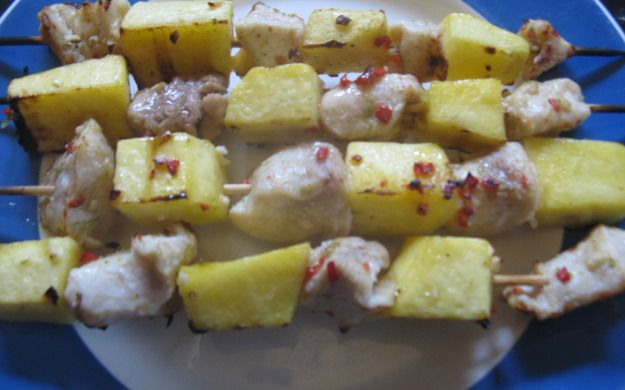 Crocodile and Mango skewers - Colonel Mustard in the Kitchen