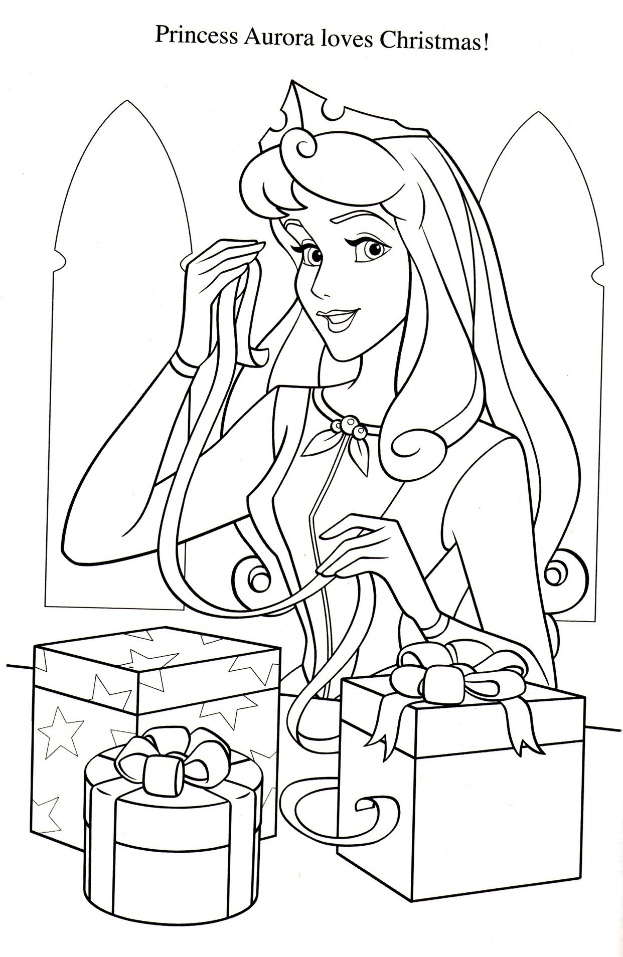 Coloring Page Disney Princess Coloring Pages Princess Coloring Pages Christmas Coloring Pages