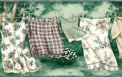 Check Ebay Deal Of Today Wallpaper Border Wallpaper Green Laundry