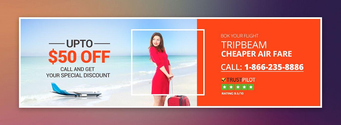 TripBeam Travel Website's Banner Design on Behance