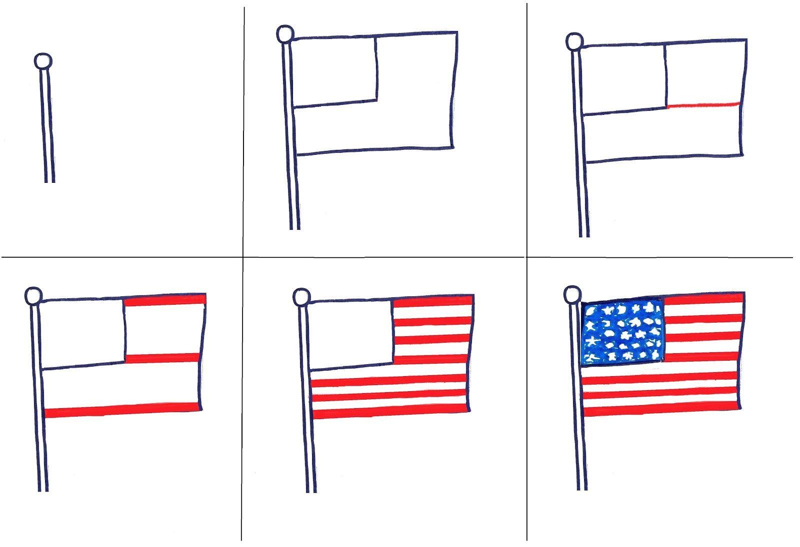 1st Grade Flags | American flag art, Flag art, Flag drawing