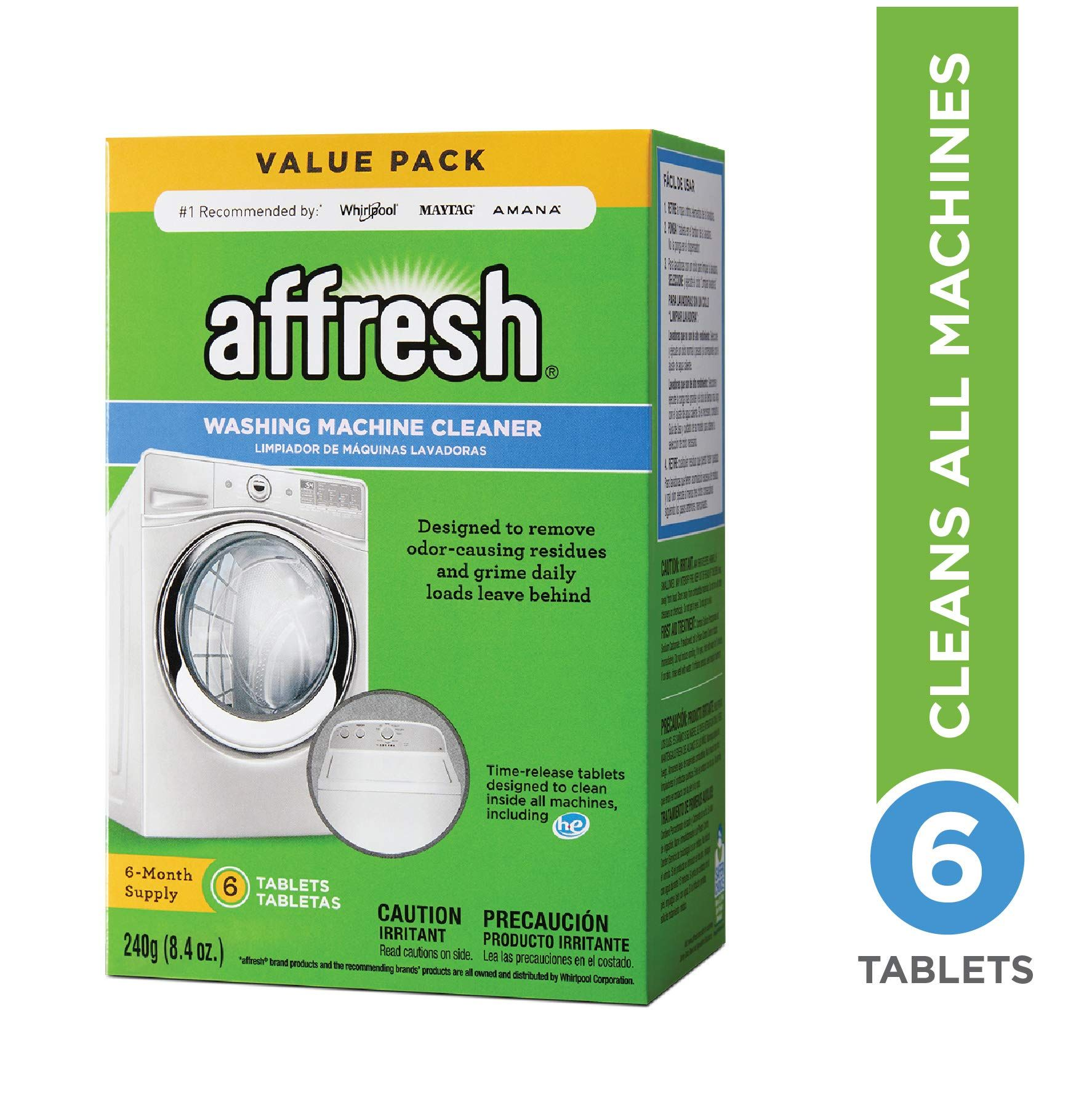Affresh Washer Machine Cleaner 6 Tablets 8 4 Oz Washing