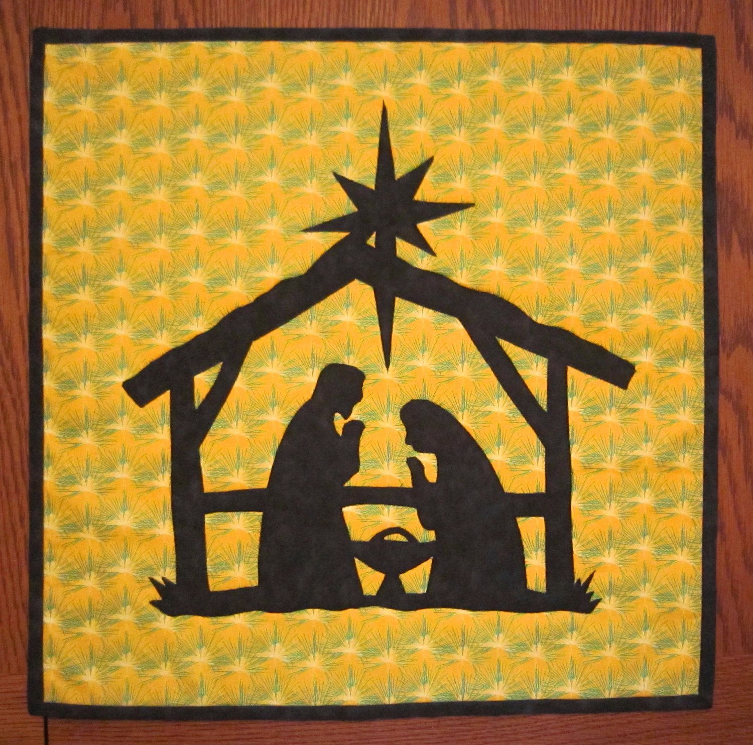 NATIVITY Mini Quilt from Quilts by Elena Silhouette Applique Wall ...