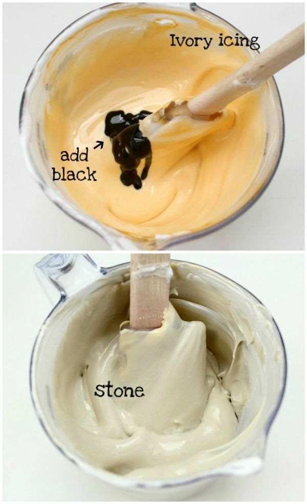Tangled Cookies And how to make stone color icing | Royal icing ...