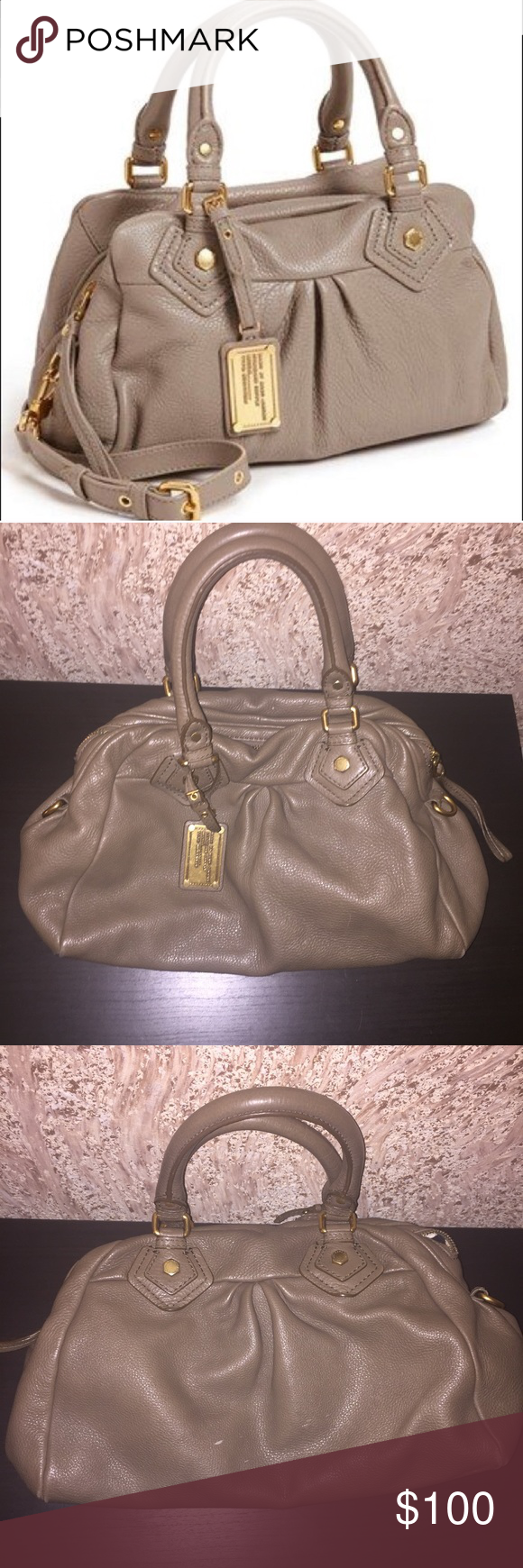 Marc Jacobs Classic Q Baby Groovee Leather Satchel Gorgeous Authentic Marc  Jacobs Classic Q Baby Groovee Satchel. Color: Gray-brown/Dark Taupe Pre  loved, ...