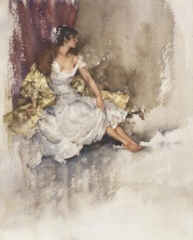 William Russell Flint Scottish 1880 1969 Cecilia 30 5 X 24 7 Cm