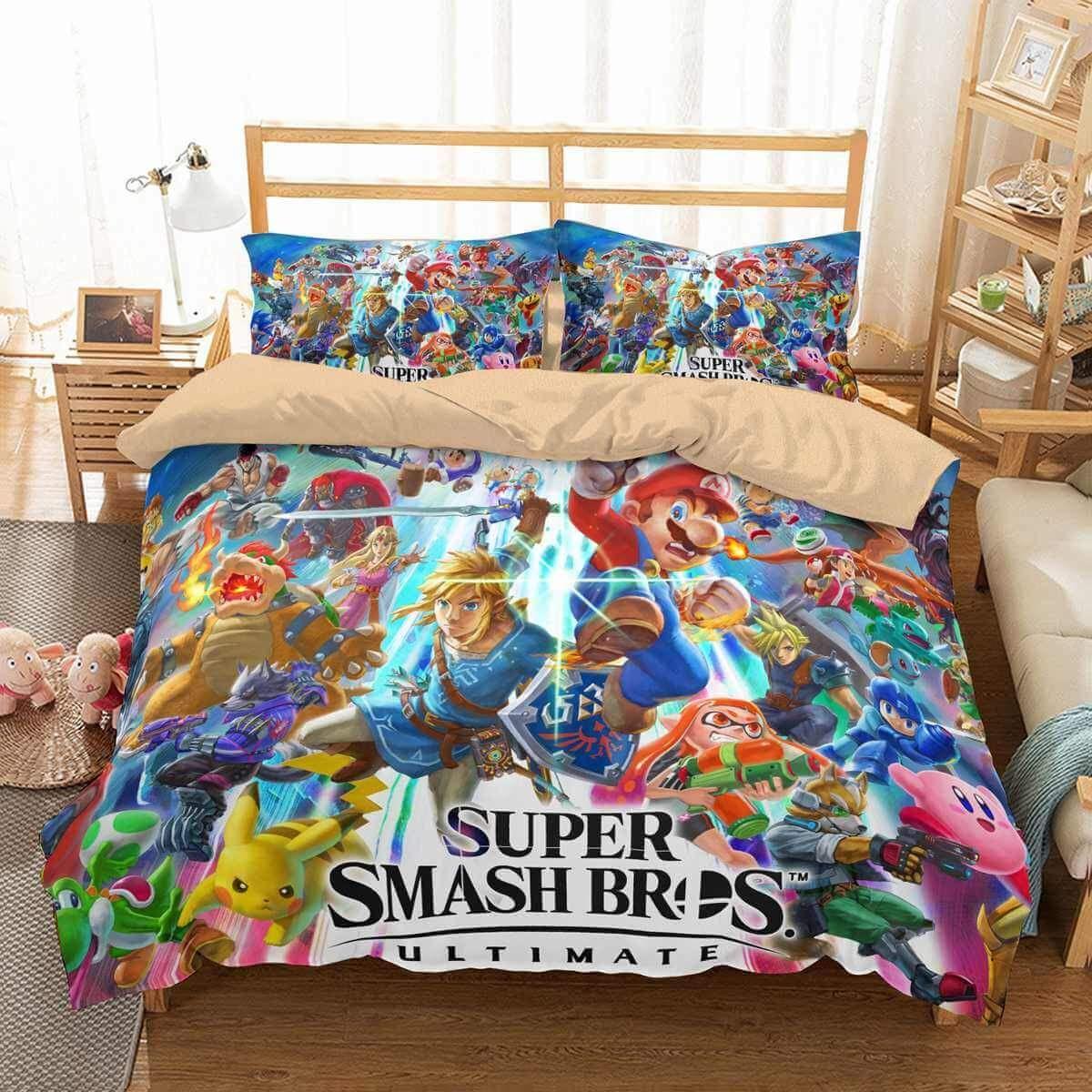 d4b732ec01a2 3D Customize Super Smash Bros Ultimate Bedding Set Duvet Cover Set Bedroom  Set Bedlinen