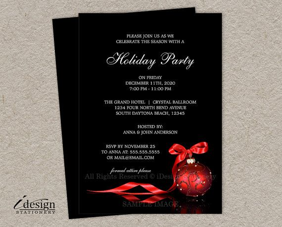 elegant christmas invitations printable corporate holiday party invitation personalized business christmas party invites diy