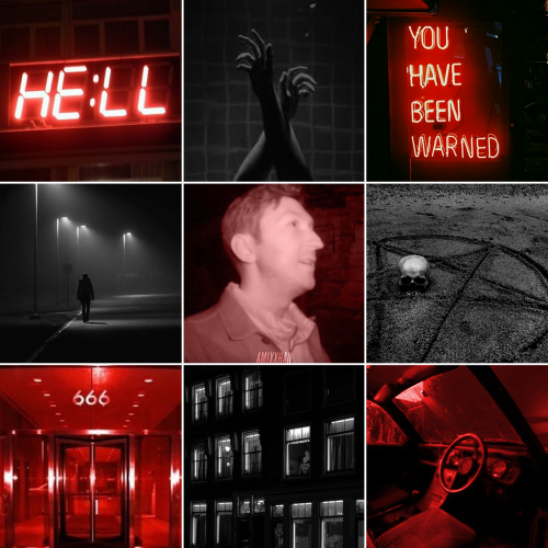 boop boop demon!shane and angel!ryan moodboard comin your