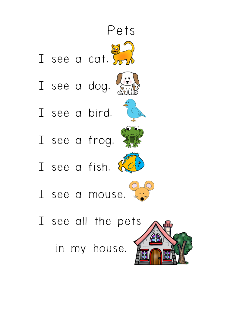 Sight Word Poems for Shared Reading & Literacy Stations ...