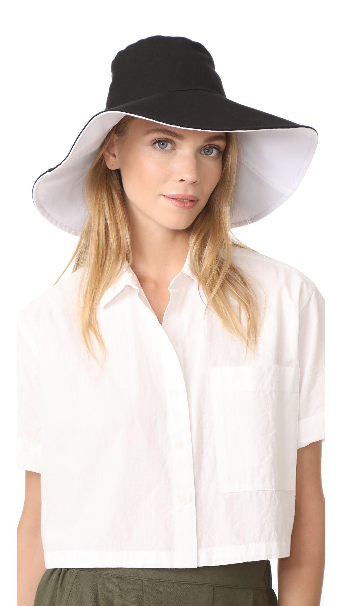 Hat Attack Canvas Reversible Sun Hat Fashion 50s Fashion Casual Sun Hats For Women