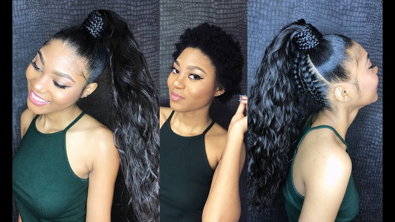 How To Do A Sleek High Ponytail On Short Natural Hair Video Via