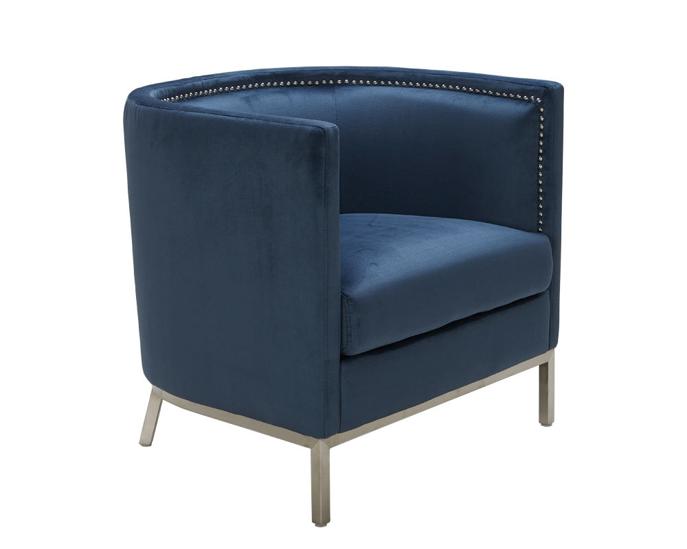 Wales Armchair Ink Blue With Images Mid Century Modern