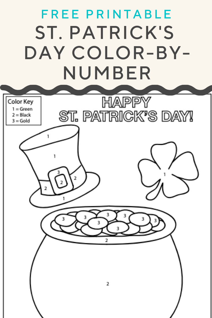 St Patrick S Day Color By Number Get Into The St Patrick S Day Spirit With A Free Color By Number Colori Easy Coloring Pages Education Com Color Worksheets
