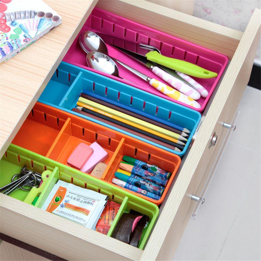 3 Pcs Japonais En Plastique Tiroir De Rangement Grille Cuisine Vaisselle Boite De Rangement D Plastic Drawer Organizer Kitchen Cabinet Storage Organize Drawers