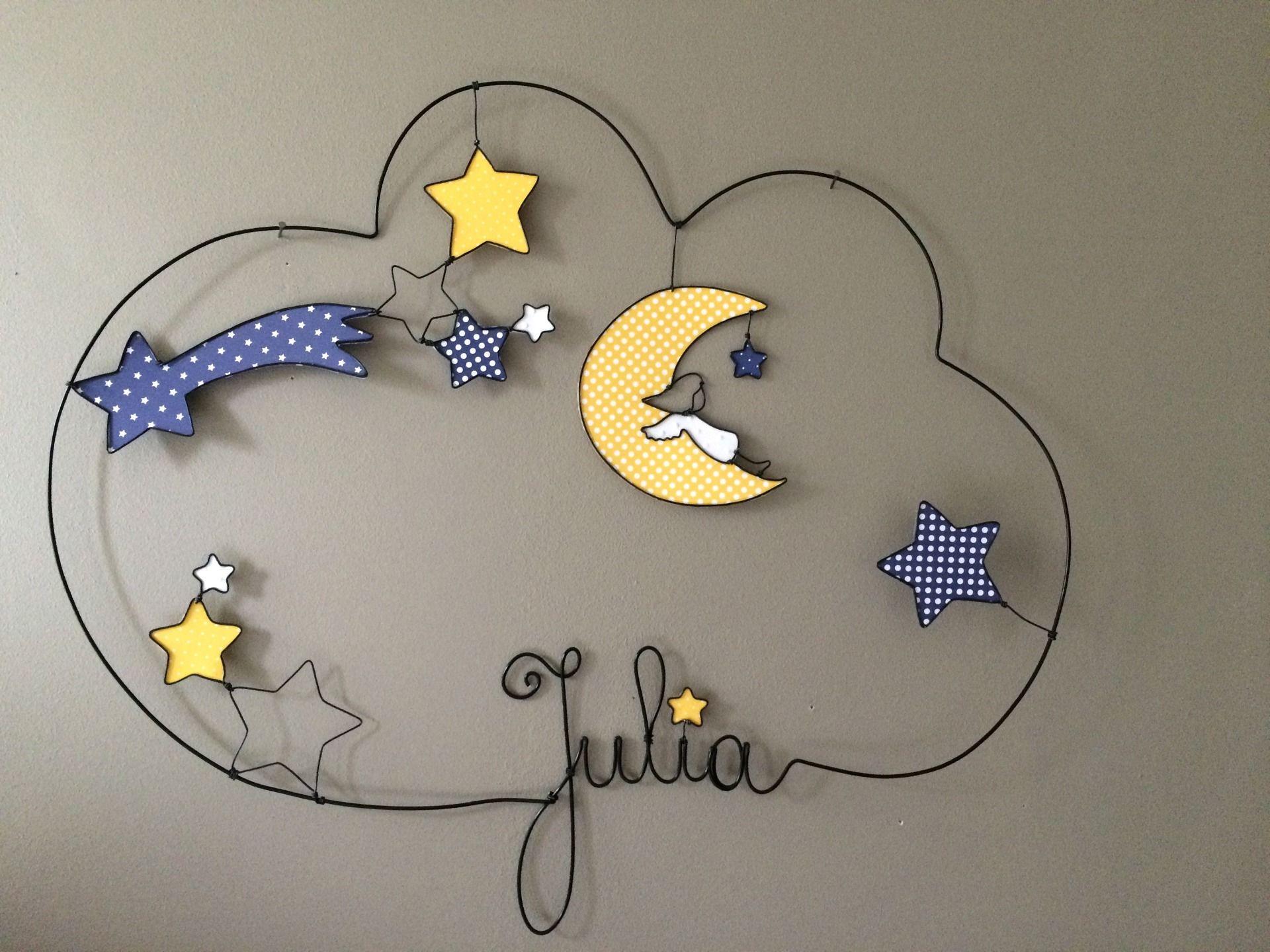 prenom fil de fer julia etoile d coration pour enfants. Black Bedroom Furniture Sets. Home Design Ideas
