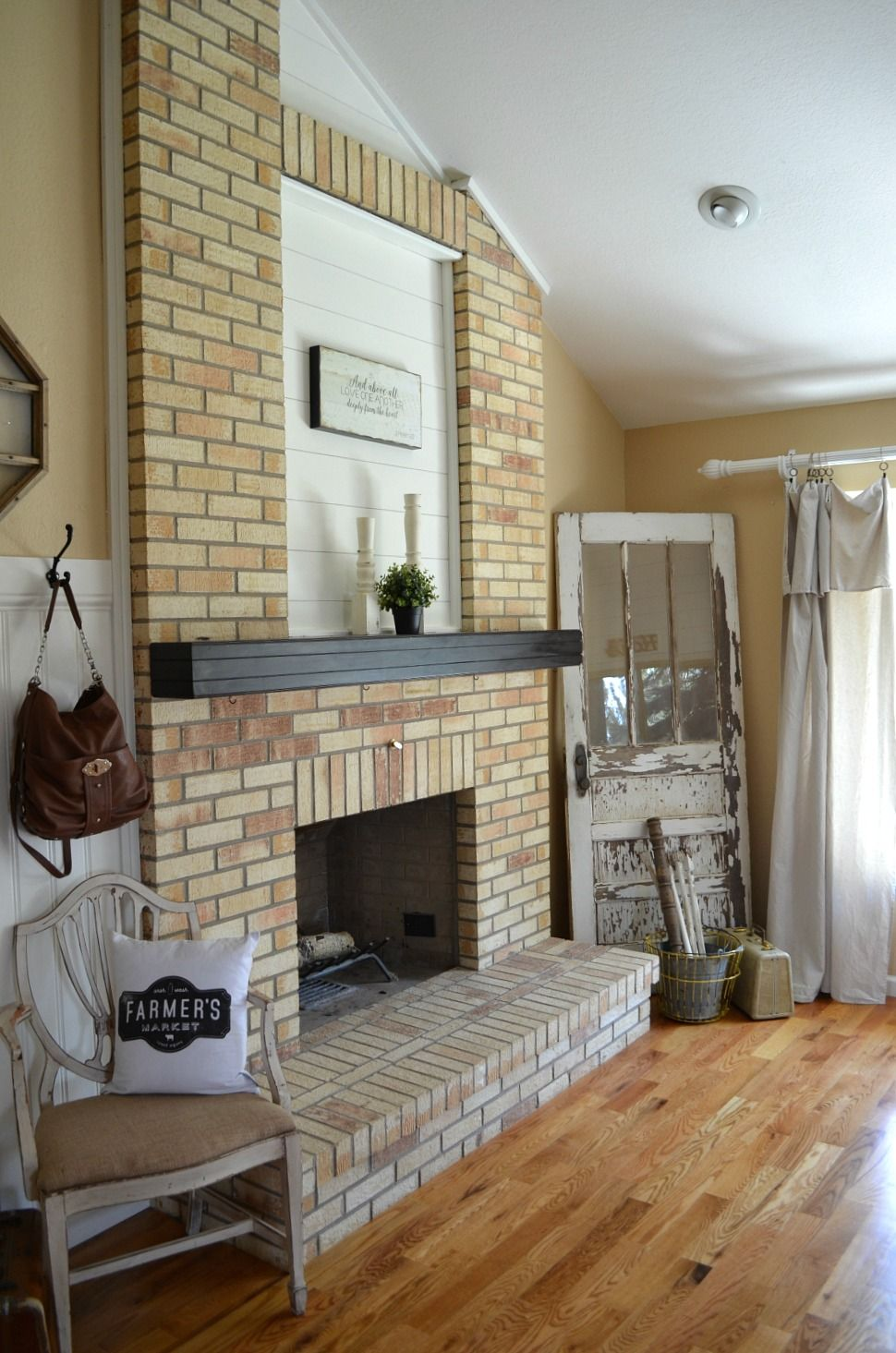 How to paint a brick fireplace with images brick