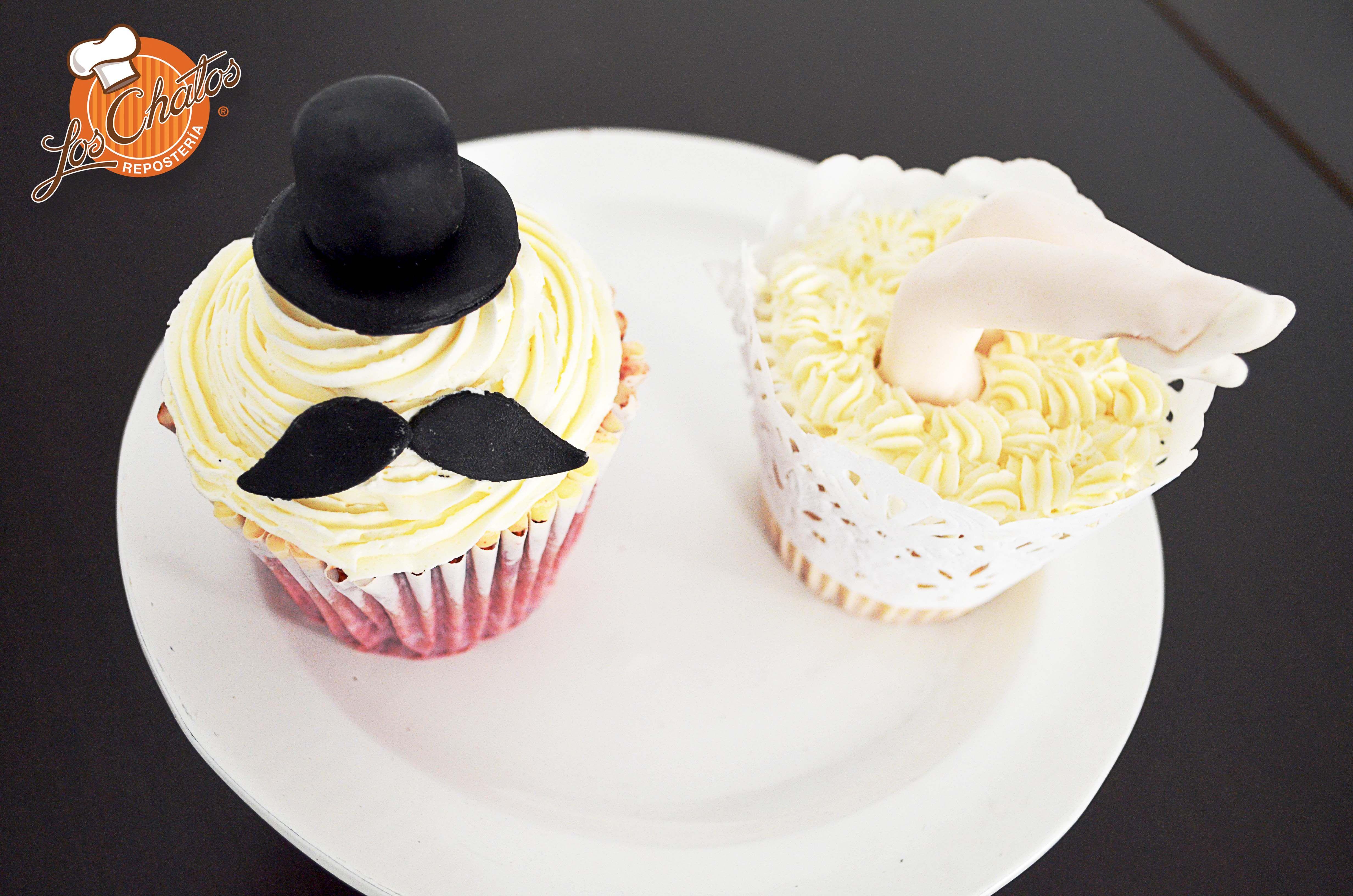 Novios en cupcake!!