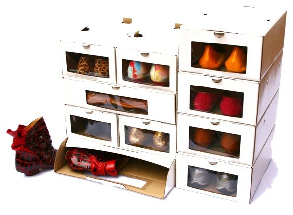 Crea Un Organizador De Zapatos Con Tus Propias Manos Organizador De Zapatos Caja De Zapatos Reciclar Cajas De Zapatos