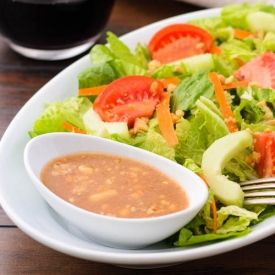 Homemade Asian or Thai style peanut dressing perfect for salads, noodles, or dipping sauce.