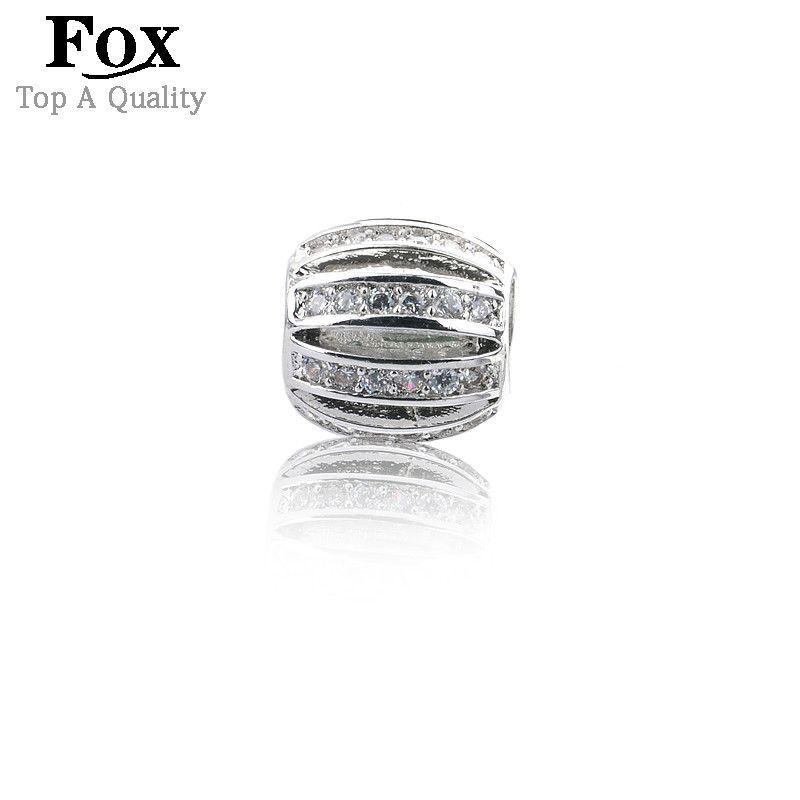 Hot sell Fashion Jewelry Genuine Austrian Zircon Crystal Gem Loose Beads fit European pandora Bracelets Bangles Necklaces 4080S Alternative Measures