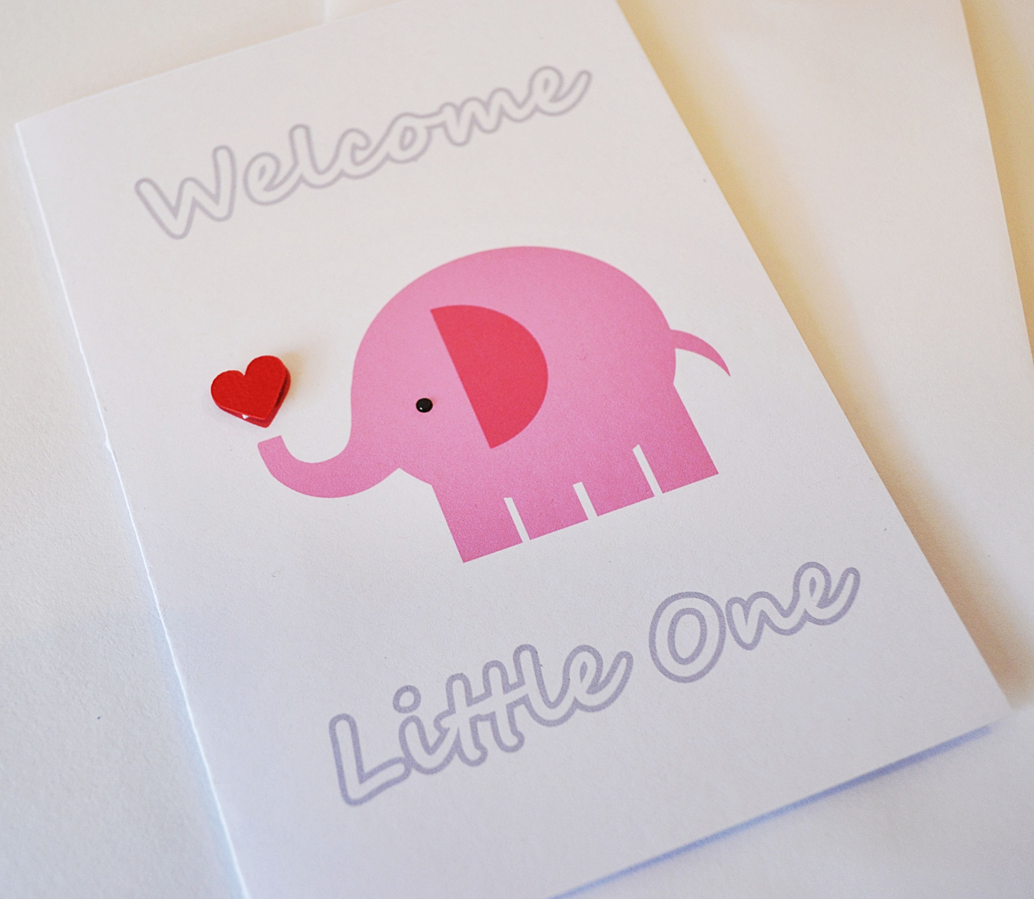 Welcome Little One Handmade Greeting Card Suitable For A Baby