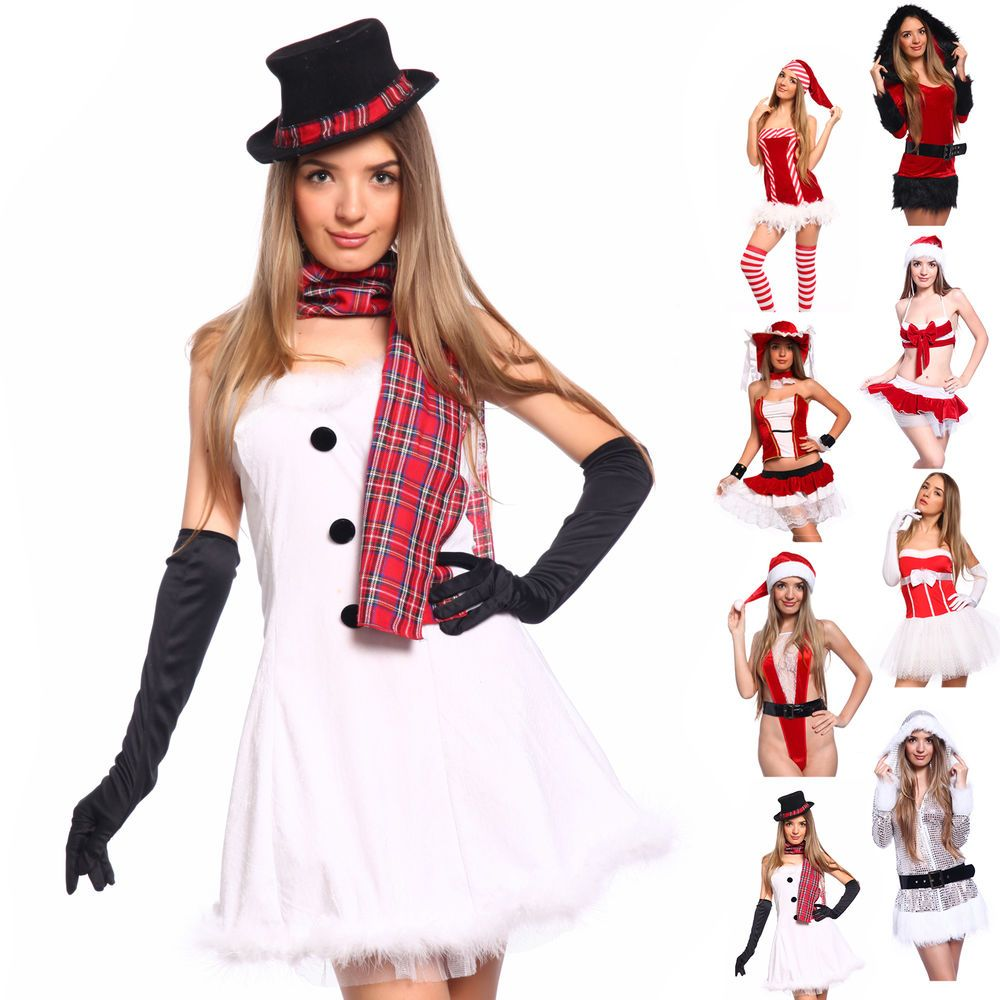 Christmas Party Fancy Dress Ideas Part - 30: Sexy Miss Santa Claus Costume Hen Night Xmas Party Fancy Dress Cosplay  Outfit