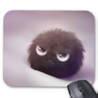 Fuzzy Monster Mouse Pad