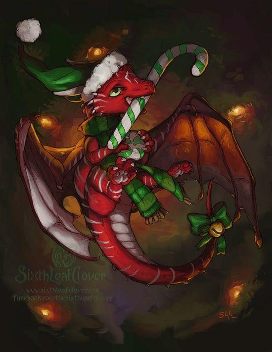 Christmas Dragon.Pin By Gwendolyn Berndt Kuchel On Holiday Christmas Dragons