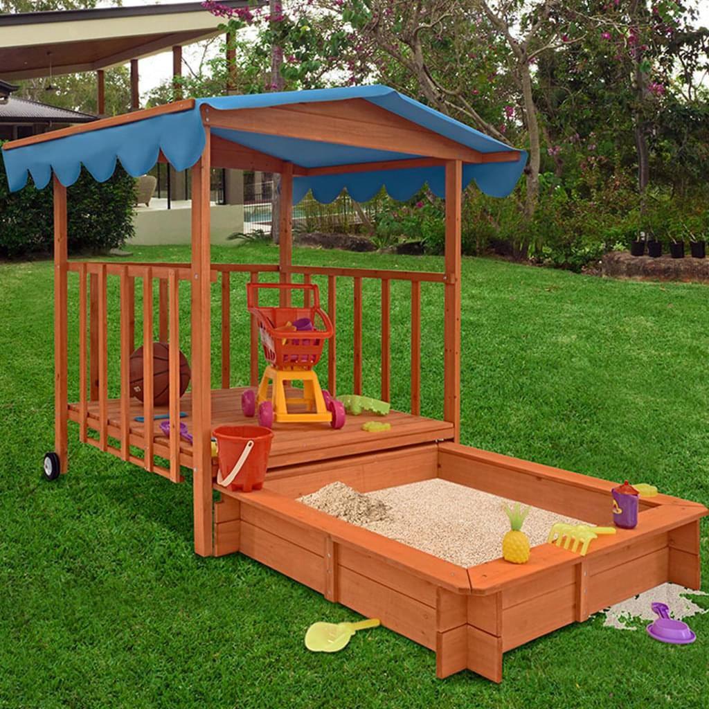 Gartenspielhaus Sandkasten Mit Uberdachter Spielveranda