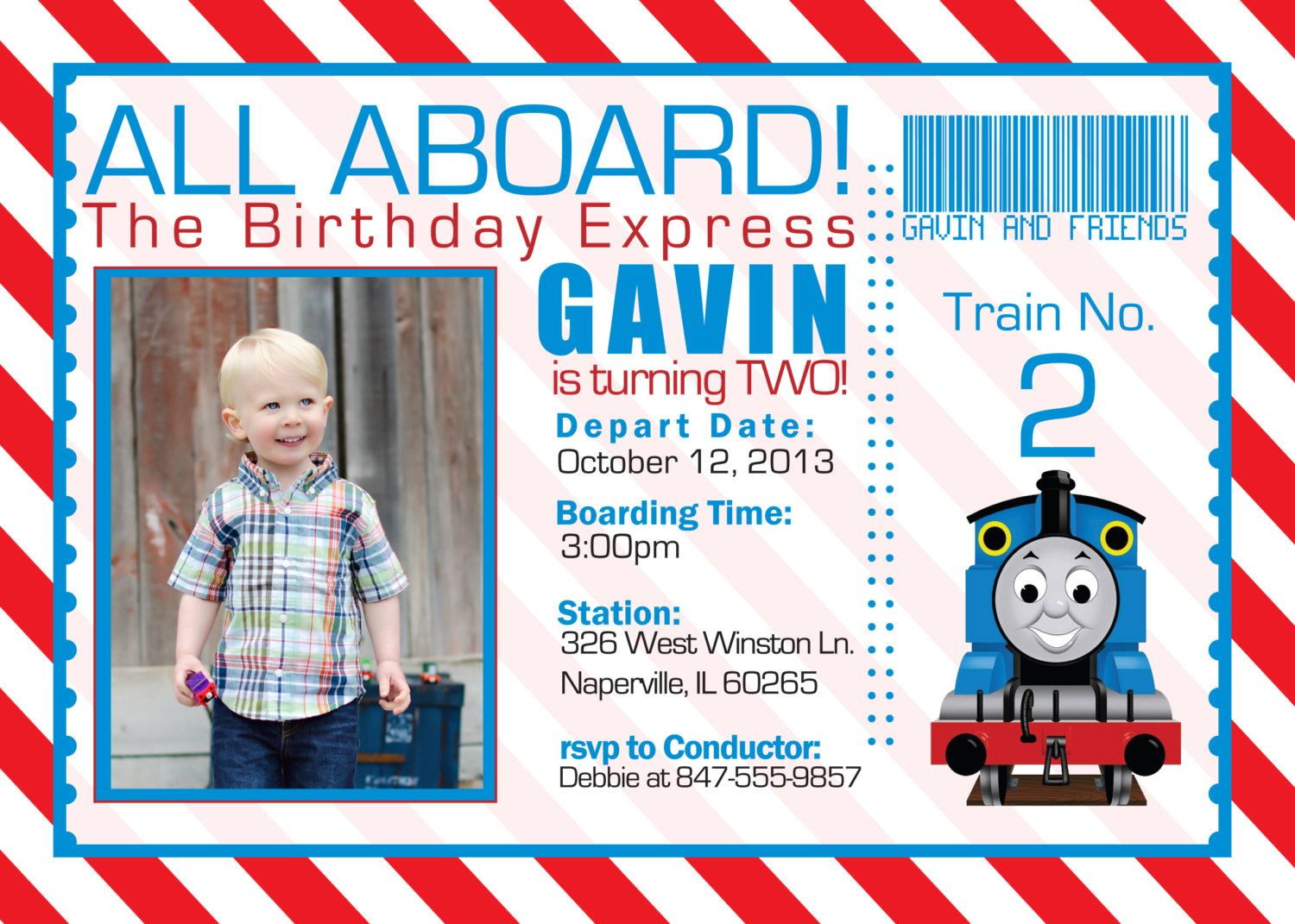 birthday thomas the train invitation digital by funablescreations, Birthday invitations