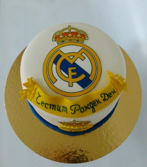 decoration gateau real madrid