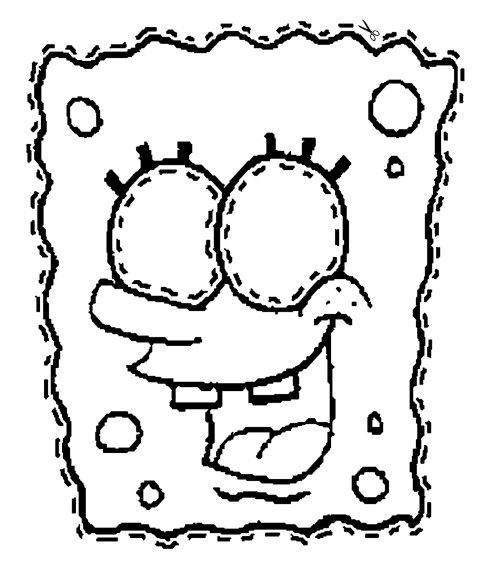 make a spongebob mask coloring page | halloween | pinterest - Coloring Pages Spongebob Halloween
