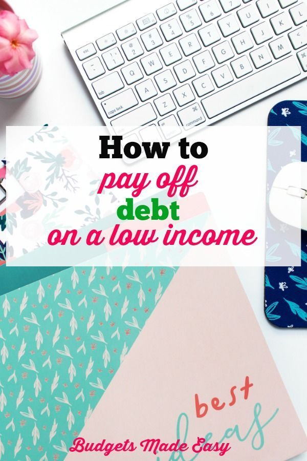 How to Pay Off Debt Fast on a low income Pinterest Debt