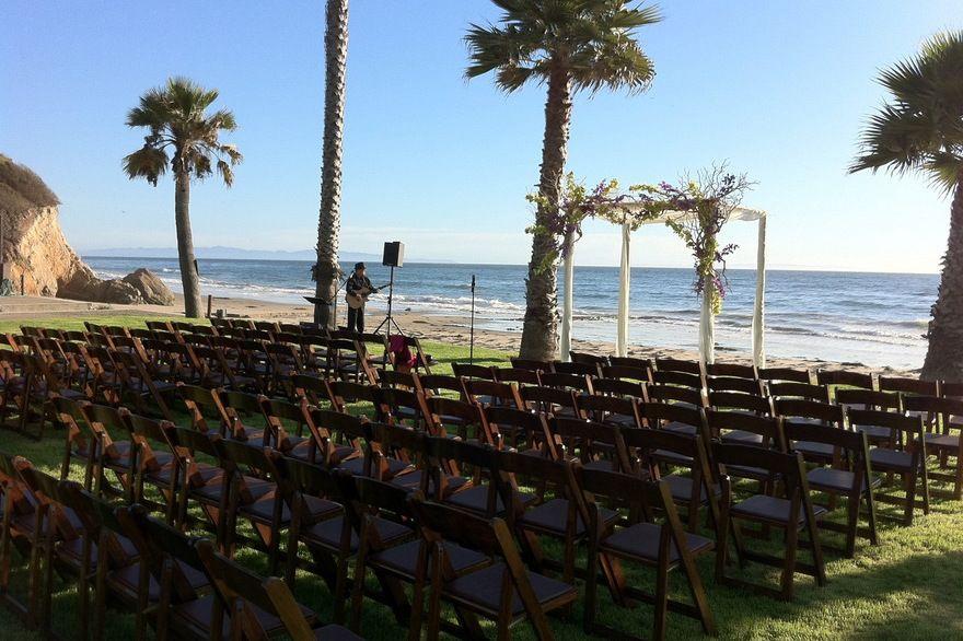 Santa Barbara Beach Wedding Set Up Dos Pueblos