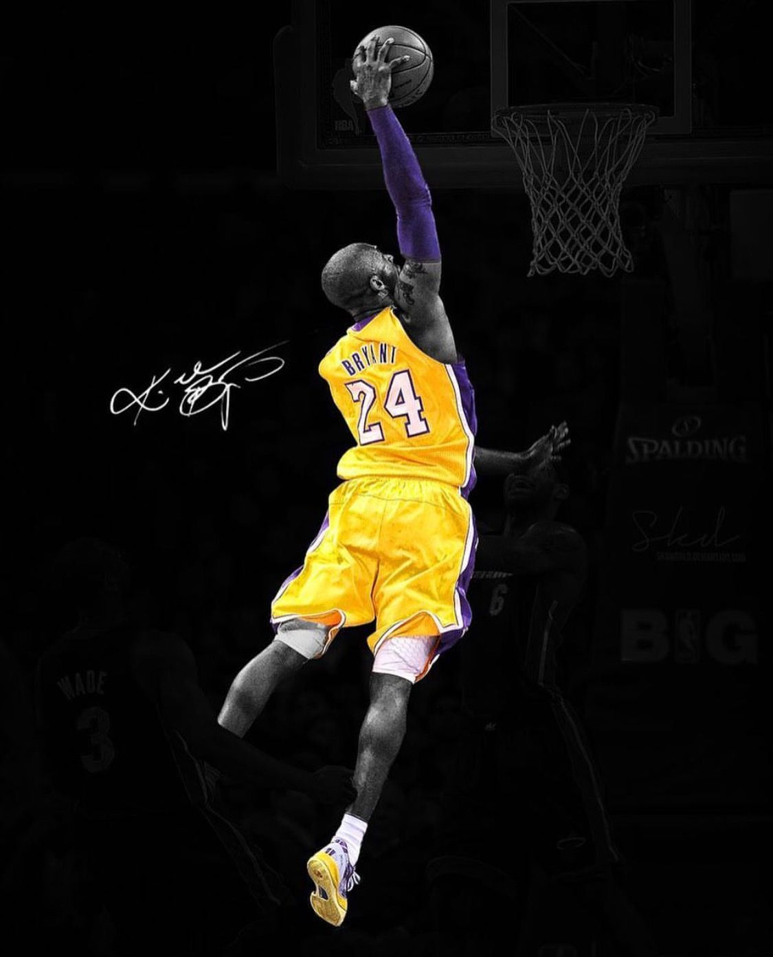 Pin By Ricardo Cambronero On Lakers Baby Kobe Bryant Dunk Kobe Bryant Wallpaper Kobe Bryant Poster
