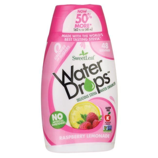 Wisdom Natural Sweetleaf Water Drops Enhancer Raspberry Lemonade   1.62 fl oz Liquid   Blood Sugar Support