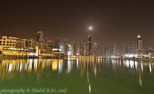 Site : United Arab Emirates - Dubai - Burj Khalifa Lake - Canon 40D - Lens : Tamron 12-24mm - http://www.flickr.com/photos/khalid-al-saif/6042737129/in/photostream - http://500px.com/photo/19405835