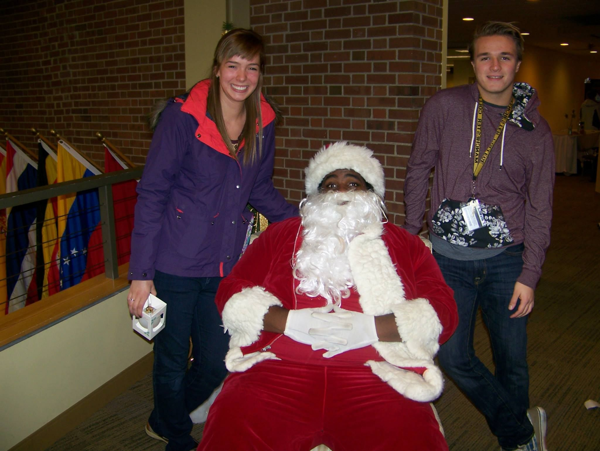Photos with Santa at Manchester University's Winter
