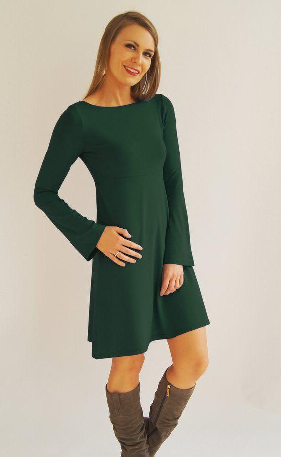 feen und helden kleid ava bohemian style grün
