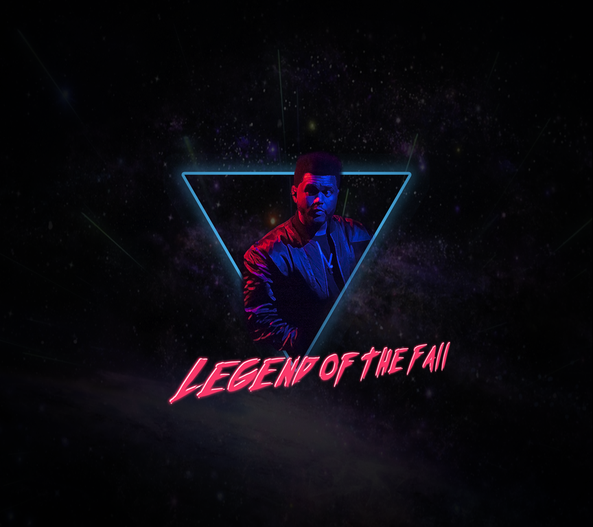 80s style Weeknd poster TheWeeknd The weeknd poster