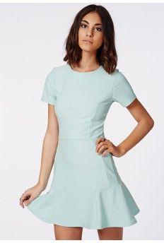 96616ae1fc Cady Crepe Skater Dress Ice Blue