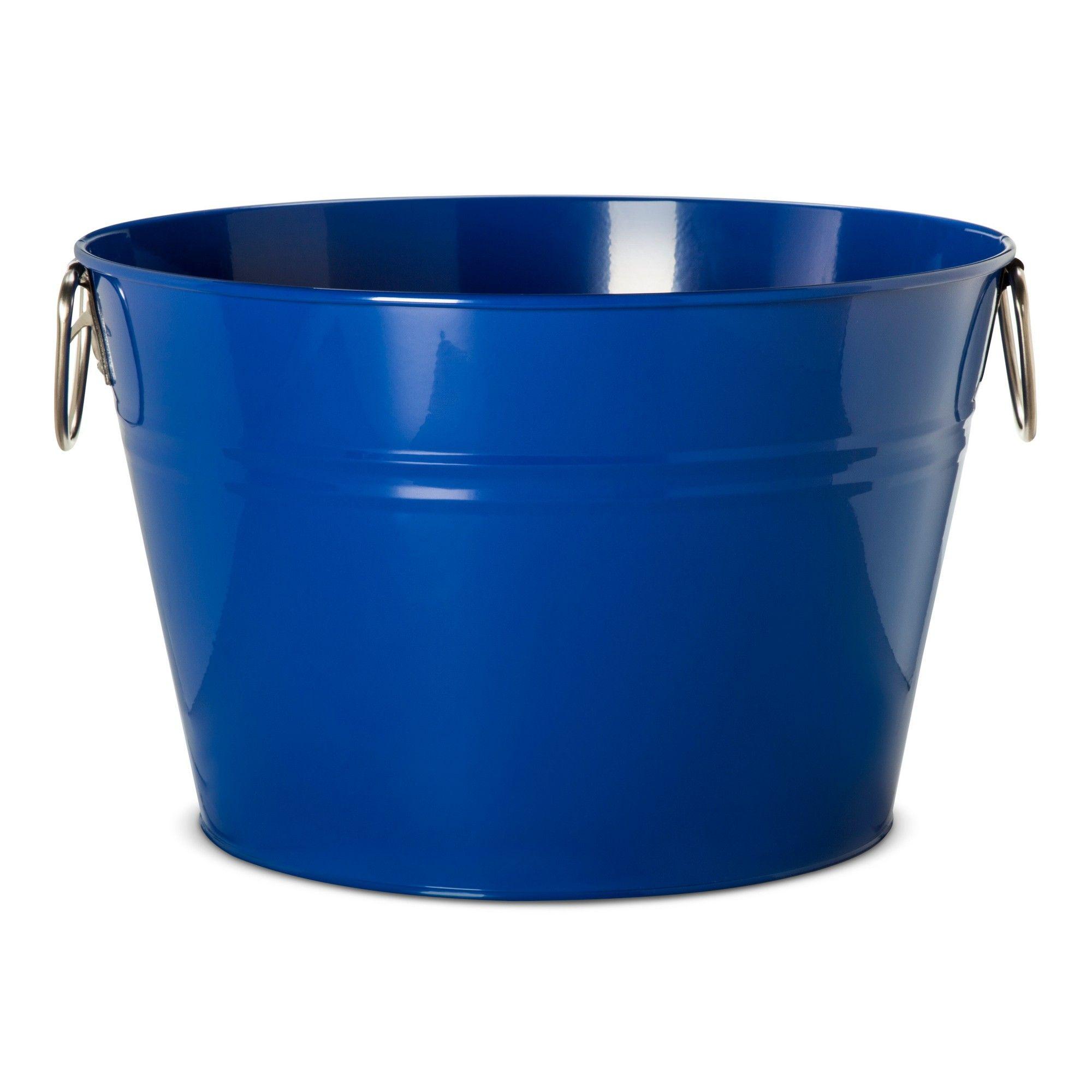 Large 6.3gal Steel Beverage Tub Blue   Tubs, Steel and Products