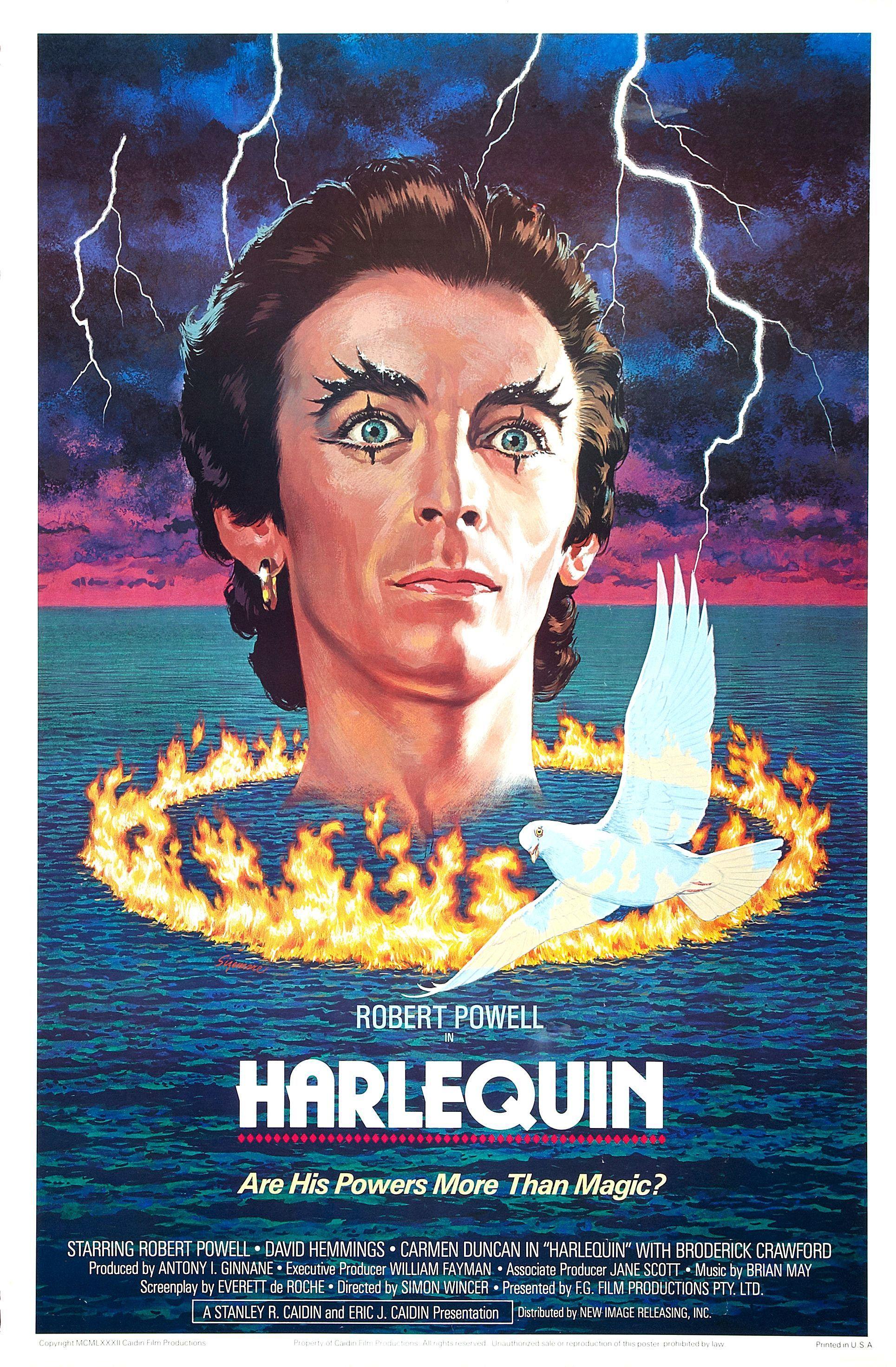Harlequin  Australia Design Print Poster Posters For Horror Sci Fi Exploitation Cult Trash Adult And B Movies Illustration Illustrations