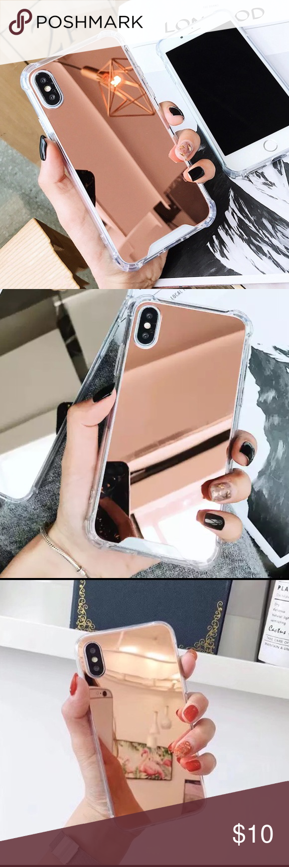 Iphone X Xs Shockproof Rose Gold Mirror Case Rose Gold Accessories Rose Gold Mirror Rose Gold