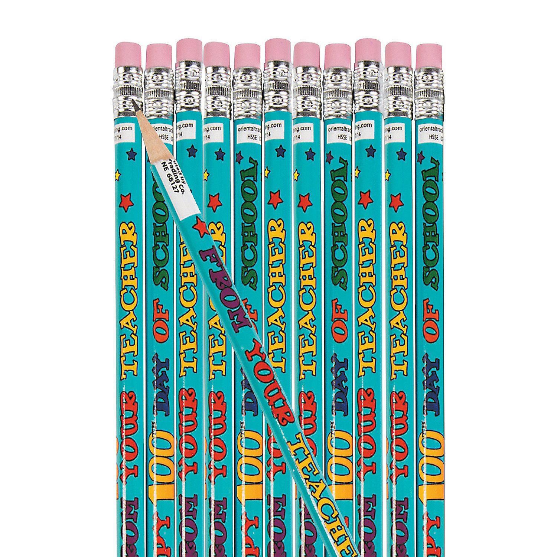 Happy 100th Day Of School Pencils