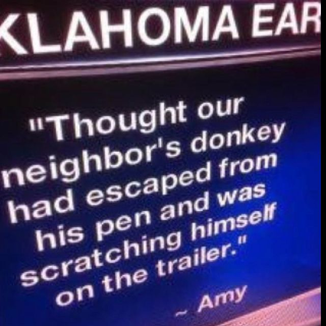 Seriously! Like how does the media always find some dumb*** to represent Oklahoma!