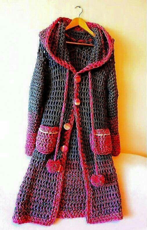 Abrigo julieta crochet