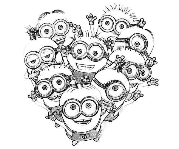 images of coloring pages minions rocking | Love The Minion Coloring Page | Kleurplaten Minions ...