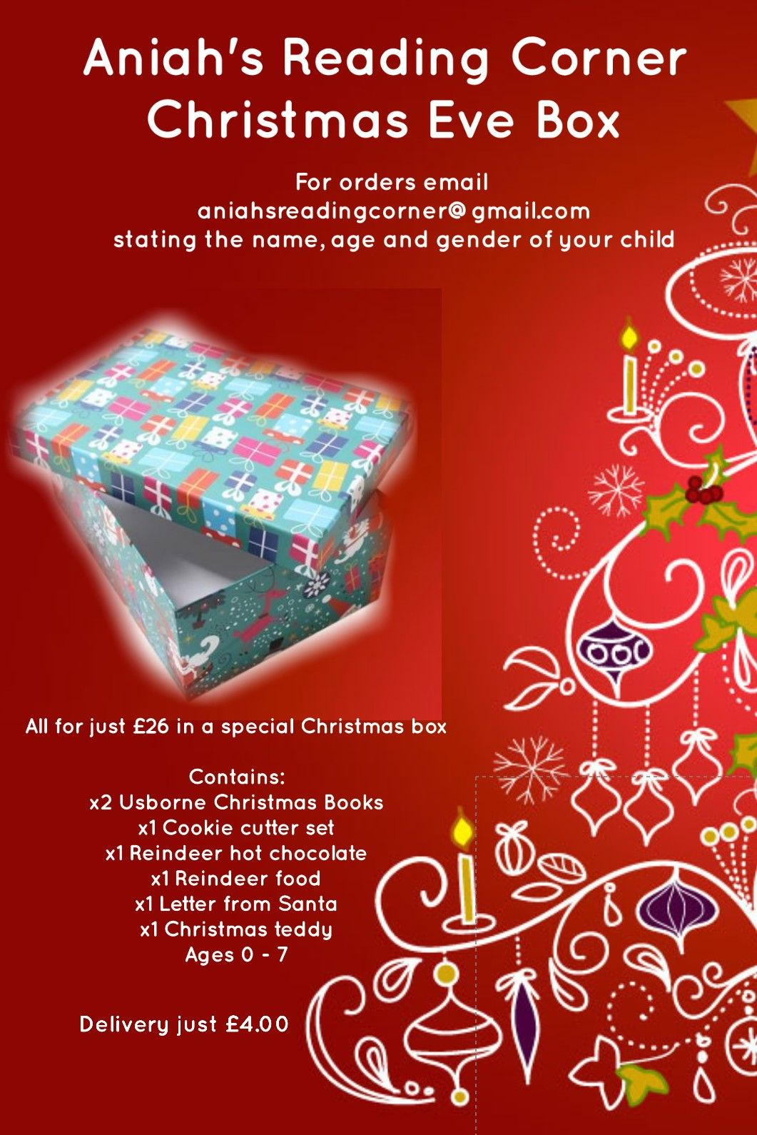 A Discount Can Be Offered For Multiple Christmas Eve Boxes